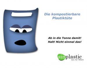 Nachhaltige Taschen - Kompostierbare Plastiktüte